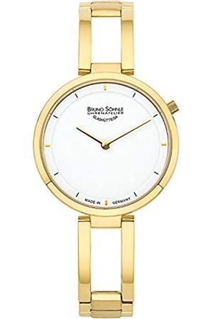 Soehnle Damen Uhren - Bruno Söhnle Damen Analog Quarz Uhr mit Edelstahl Armband 17-33224-992