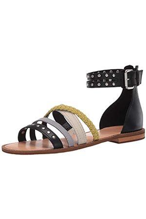 Frye And Co. Damen Evie Mixed Strap Stud Flache Sandale