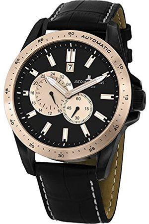 Jacques Lemans Herren Chronograph Quarz Uhr mit Leder Armband 1-1775F