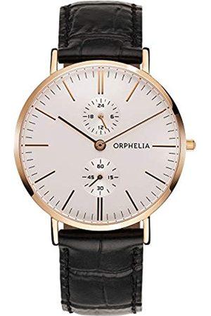 ORPHELIA Herren Uhren - Herren-Armbanduhr Gentle Analog Quarz Leder