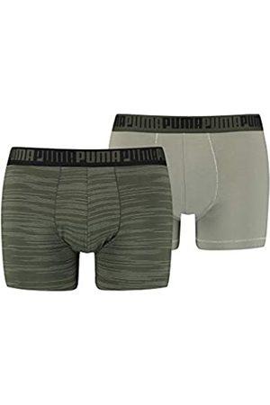 PUMA Herren Boxershorts - Mens Men's Spacedye Stripe (2 Pack) Boxer Shorts