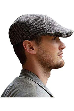Hanna Hats Donegal Touring Cap Tweed Mütze (Graues Salz und Pfeffer