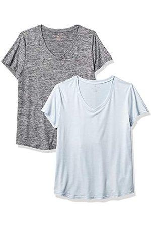 Danskin Damen 2 Pack Essential V Neck T-Shirt