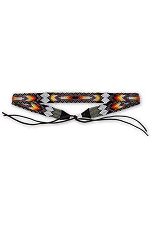 Mayan Arts Perlenbesetztes Hutband, Cowboy-Westernhüte, Rodeo-Stil, Lederbänder, schwarz, und mehrfarbig, Hüte Zubehör, handgefertigt in Guatemala, 2,2 x 53