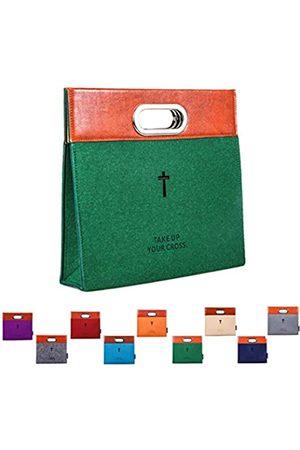 AGAPASS Herren Handtaschen - Bibel-Tragetasche, Handtasche, Filz-Bibelüberzug für Damen und Herren, Bibel-Tragetasche, mit Reißverschluss