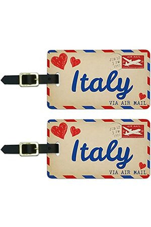 Graphics and More Graphics & More Air Mail Postcard Love for Italy Luggage Suitcase Carry-on Id Tags