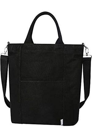 Iswee Damen Handtaschen - Große Canvas-Schultertasche für Frauen, legere Handtaschen, Arbeitstasche, Einkaufstasche, Reisetasche