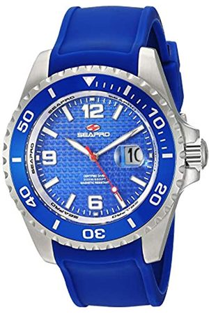 Seapro Herren Uhren - Abyss 2000M Herren Taucheruhr Edelstahl Quarz Silikon Armband 22 Casual (Modell: SP0742)