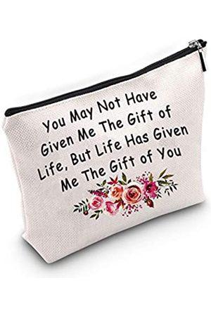 "TSOTMO Damen Koffer - Make-up-Tasche für Stiefmütter, mit Aufschrift ""You May Not Have Given Me The Gift of Life But Life Has Given Me The Gift of You"""