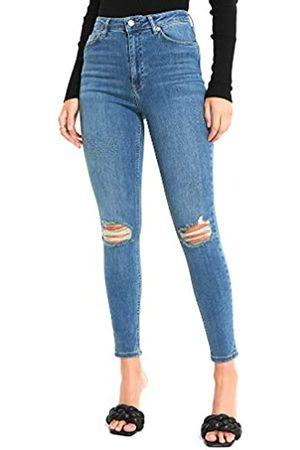NA-KD Damen Skinny High Waist Destroyed Jeans