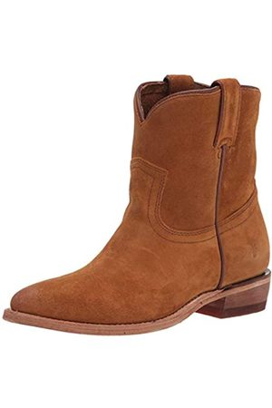 Frye Damen Cowboy & Bikerboots - Damen Billy Short Western Boot, Braun (weizenfarben)