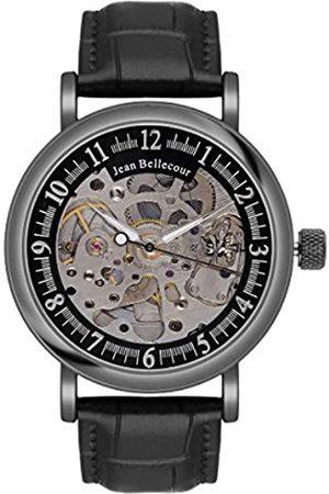 Jean Bellecour Herren-Armbanduhr Analog Automatik Leder REDH4