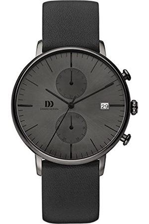 Danish Design Herren Uhren - Herren-Armbanduhr IQ16Q975 Analog Quarz Leder IQ16Q975
