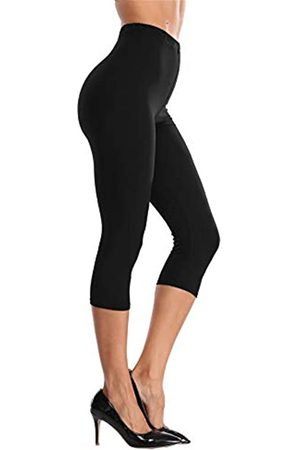 VOGUEMAX Damen Capri Leggings Hohe Taille Weich Und Bequem Cropped Leggings Strumpfhose 3/4 Länge Leggings - - 3X-5X