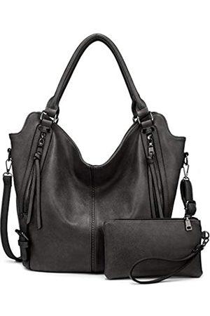 Realer Damen Umhängetaschen - Tote Bag für Frauen PU Leder Schultertaschen Mode Hobo Taschen Große Geldbörse und Handtaschen mit verstellbarem Schultergurt