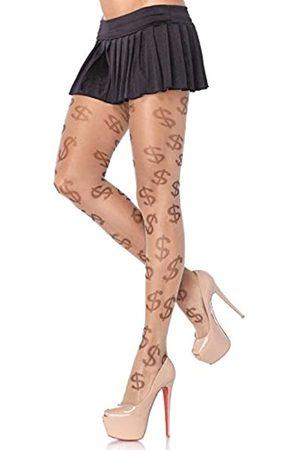 Leg Avenue Damen Strumpfhosen - Damen Dollar Sign Strumpfhose