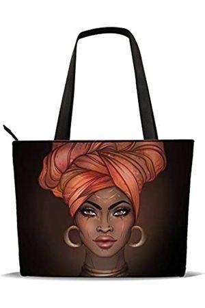 AZPSRT Tragetasche für Frauen, afrikanischer Amerikanischer Schulter-Handtasche, großes Fassungsvermögen, passend für 39,1 cm/45 cm, ( 2)