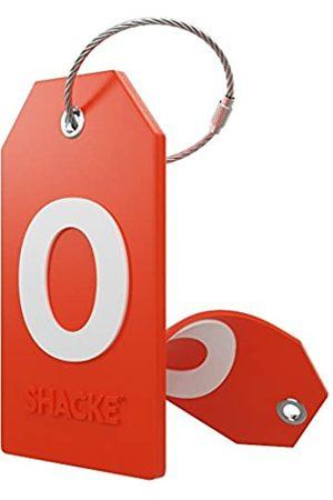 Shacke Reisetaschen - Initial Gepäckanhänger mit Sichtschutzabdeckung und Edelstahlschlaufe – Buchstabe