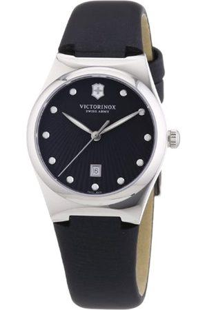 Victorinox Damen Uhren - Swiss Army Damen-Armbanduhr XS Victoria Analog Quarz Textil 241636