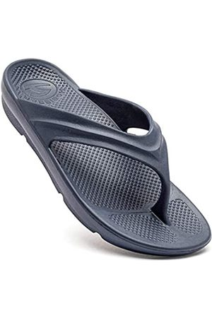JHFEAW Herren Schuhe - Mens Sport Flip Flops Comfort Casual Thong Sandals Outdoor Women's Unisex(Dark Blue