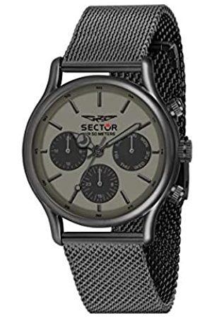 Sector No Limits Herren Uhren - Herren Analog Quarz Uhr mit Edelstahl Armband R3253517014