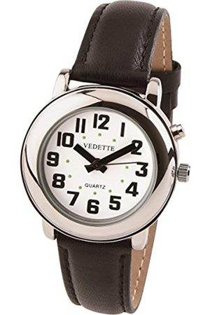 Vedette Herren Uhren - UnisexErwachseneAnalogQuarzUhrmitLederArmbandVR30062