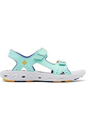 Columbia Jungen Schuhe - Jugendliche Techsun Vent Sandalen, Hellblau, Hellorange (Aquarium, Bright Marigold), 34 EU