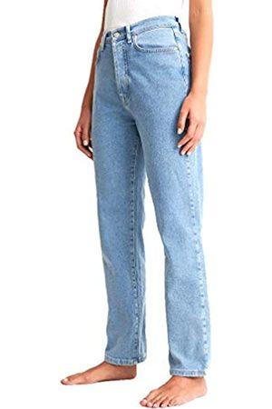 NA-KD Damen Straight High Waist Jeans
