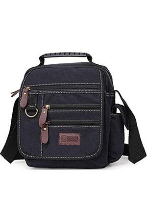 Sunsomen Herren Umhängetaschen - Canvas Schultertasche Kleine Messenger Crossbody Bag Work Bag Vintage Multifunktional