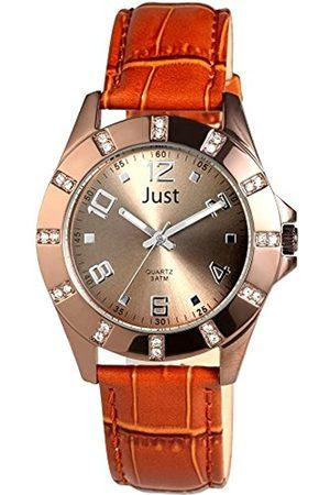 Just Watches Damen Uhren - Damen-Armbanduhr Analog Quarz Leder 48-S3928-CO