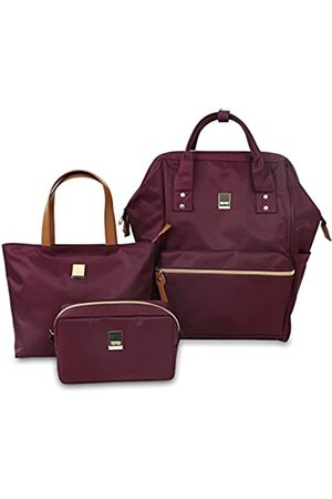 J WORLD NEW YORK Damen Shopper - Posy 3 Pc Set (Backpack With Tote & Cosmetic Pouch) Rucksack, 16 cm