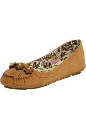BC Footwear Damen Schuhe - Damen Wetterfahne Flach, Beige (hautfarben)