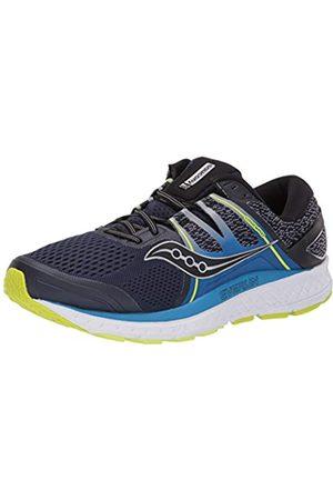 Saucony Herren Schuhe - Omni ISO Straßenlaufschuh für Herren, (Marineblau, Zitrone)
