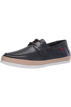 Marc Joseph New York Herren Halbschuhe - Herren Leder-Schuhe mit Seil-Detail Boot, Blau (Blauer Nappa)