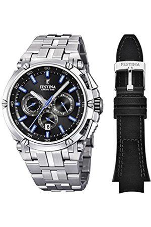 Festina Herren Uhren - Herren Chronograph Quarz Uhr mit Edelstahl Armband F20327/7