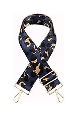 Sumily Schultertaschengurt Geldbörse Gurt Ersatz Crossbody Handtasche Streifen breit verstellbar, (Marineblau (goldfarbenes Metall))