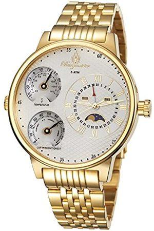 Burgmeister Herren Uhren - Armbanduhr für Herren mit Analog-Anzeige, Quarz-Uhr mit Edelstahl Armband - Wasserdichte Herrenarmbanduhr mit zeitlosem