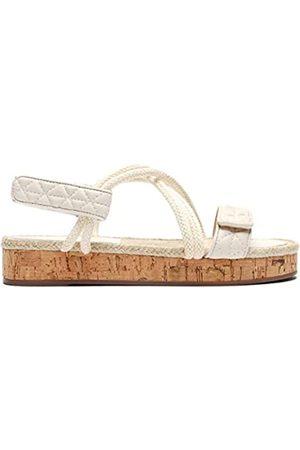 Schutz Damen Sandalen - Flache Damen-Sandalen, Weiß (Zuckerweiß)