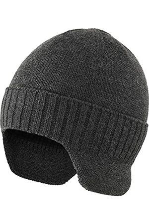 Ambientehome Herren Hüte - Home Prefer Herren Wintermütze Strickmütze mit Ohrenklappen und Ohrenklappen - - large