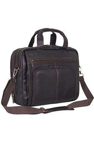 Kenneth Cole Laptop- & Aktentaschen - Out of The Bag Kolumbianisches Leder, Doppelfach, erweiterbarer Reißverschluss Oben, für die meisten Laptops mit 15