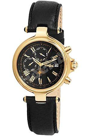 Engelhardt Herren Uhren - Herren Analog Mechanik Uhr mit Leder Armband 385701029028