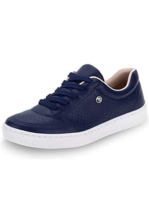 VIA MARTE Damen Schuhe - Damen-Sneaker zum Schnüren, atmungsaktiv, bequem, Marineblau