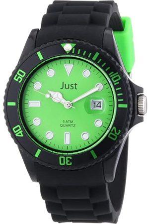 Just Watches Unisex-Armbanduhr Rubber Strap Collection Analog Quarz Silikon 48-S5457BK-GR