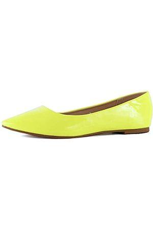 Guilty Shoes Klassische Damen-Ballett-Slipper, spitzer Zehenbereich, leger, bequem, flach, (neongelb)