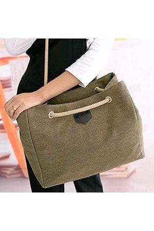 eggstage Damen Umhängetaschen - Damen Handtasche aus Segeltuch mit hoher Kapazität, lässig, einfarbig