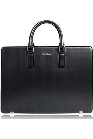 Dom Teporna Herren Laptop- & Aktentaschen - Aktentasche aus echtem Leder für Herren, wasserabweisend, entworfen in Japan.