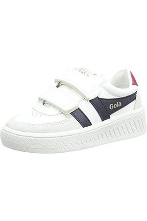 Gola Grandslam Classic Velcro Sneaker, White/Navy/Red