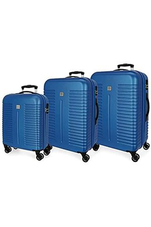 Roll Road India Kofferset 55/70/80 cms Hartschalen ABS Kombinationsschloss 220L 4 Doppelräder Handgepäck