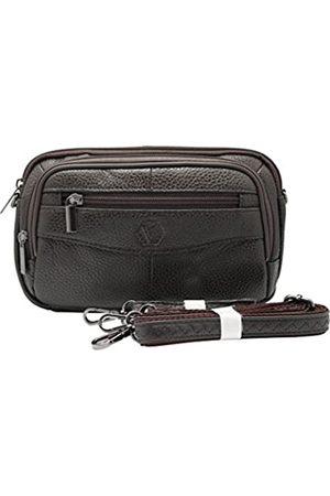 Vidlea Herren-Handtasche aus echtem Leder, Umhängetasche, Kuriertasche, Organizer, Scheckbuch