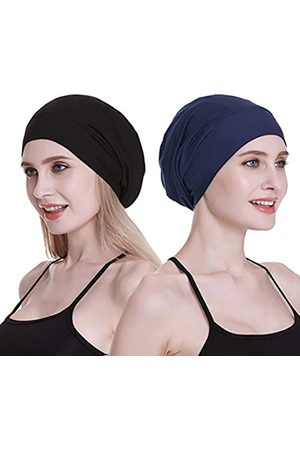 FocusCare Damen Hüte - Damen satin gefüttert schlaf slouchy cap curly slap kopfbedeckung geschenke für kraus haar eine größe passt meistens bunte geometrie